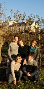 L'équipe de conception/réalisation avec de gauche à droite Sophie Heureux, Andréa Cloche, Agnès Jacquin, Rémi Séris et Andréas Blanchardon